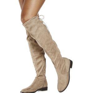 JustFab Hunter Green Boots